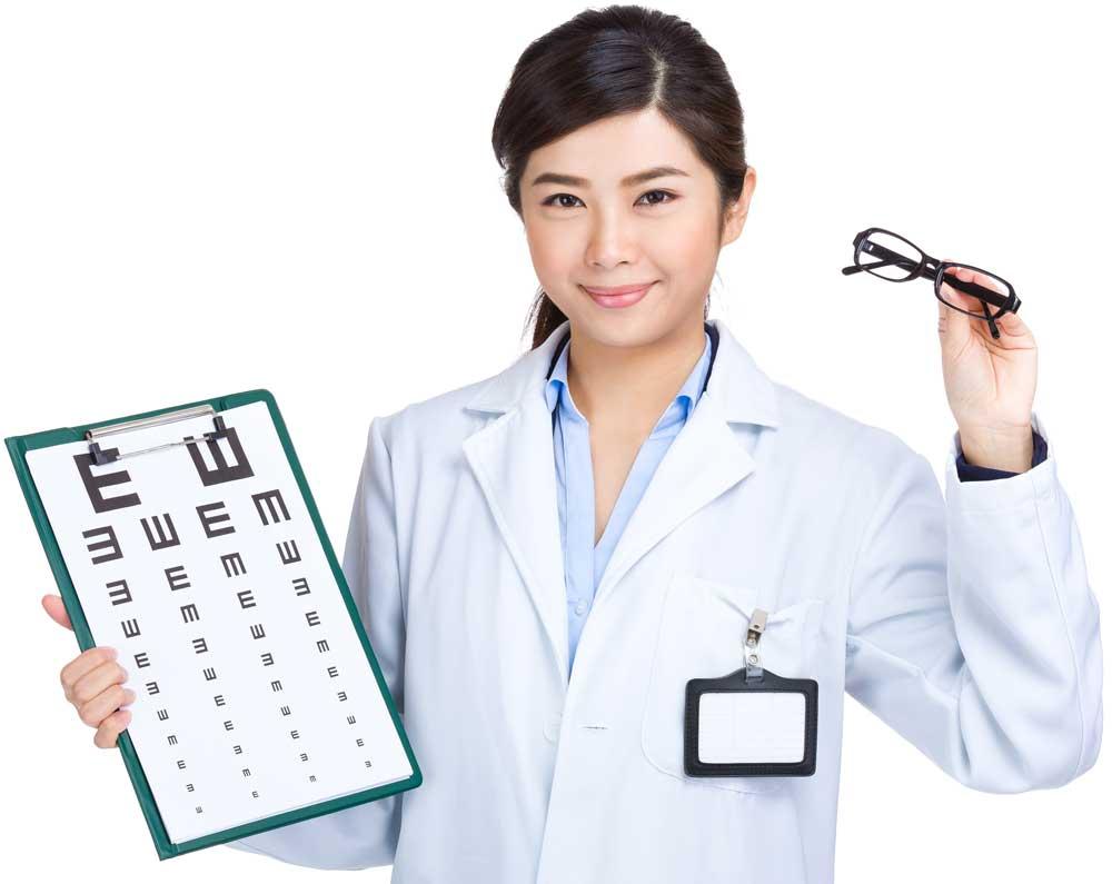 Optometrist lady